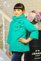 Куртка детская Весенняя «Миледи», бирюза, 122-152 рост
