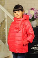 Куртка детская Весенняя «Миледи», коралл, 122-152 рост