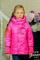 Куртка детская Весенняя «Миледи», малина, 122-152 рост
