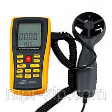 Анемометр Benetech GM8902 (0.3-45m/s; 0-45ºC; 0-999900m3/min), USB, Пам'ять 50