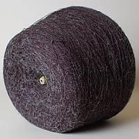 Пряжа-мохер, чёрный с сединой (50% мохер, 50% ПА; 1600 м/100 г)