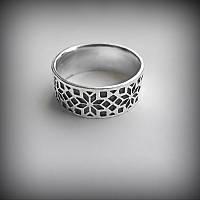 1051 Кольцо Вышиванка из серебра 925 пробы от украинского производителя