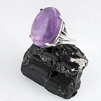Аметист, серебро 925, кольцо, 217КА