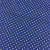 Тканина з білими горошинками 2 мм на синьому тлі