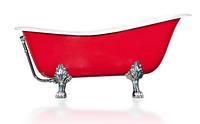 Ванна акрилова OTYLIA 160*77 Besco PMD Piramida червоно-біла з ніжками хром