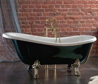 Ванна акрилова OTYLIA 160*77 Besco PMD Piramida чорно-біла з ніжками хром