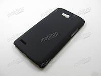 Пластиковый чехол LG L80 Dual D380 (черный), фото 1
