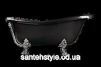 Ванна акрилова OTYLIA 160*77 Besco PMD Piramida чорна з ніжками хром