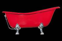 Ванна акрилова OTYLIA 160*77 Besco PMD Piramida червона з ніжками хром
