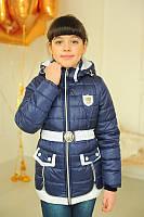 Куртка детская Весенняя «Змейки», джинс, 140-150 рост