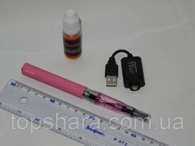 Электронная сигарета eGo-CE4 1100 мАч c жидкостью 10мл Розовая (блистерная упаковка)