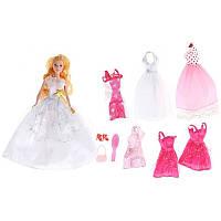 Кукла Джинни принцесса 6 платьев №83004