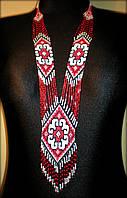 """Ґердан """"Спадок Скіфів"""" намисто з бісеру (червоного, чорного та білого кольорів), фото 1"""