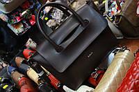 Оригинальная повседневная вместительная сумочка шоколадного цвета