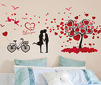 Інтер'єрна декоративна наліпка на стіну Кохання / Интерьерная декоративная наклейка на стену Любовь (XL8151)