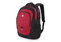 Городской рюкзак Wenger 28 л черный/красный полиэстер 33х20х46 см WG1190201408 Швейцария