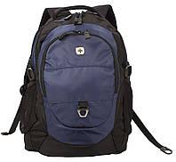 Городской рюкзак Wenger черно-синий 28 л полиэстер 33х20х46см с отделением для ноутбука WG1190203408 Швейцария
