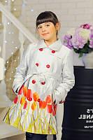Детская Весенний Плащ «Тюльпан» 122-146 рост