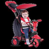 Велосипед  3-х колесный с ручкой и корзиной Smart Trike Spark 4 в 1 Красный