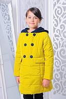 Куртка детская Весенняя «Луиза», желтый 116-146 рост