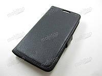 Кожаный чехол книжка LG G2 Mini (черный)