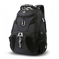 Городской рюкзак SWISS GEAR черный 27 л полиэстер 34х49х22см с отделением для ноутбука WG19002215 Швейцария