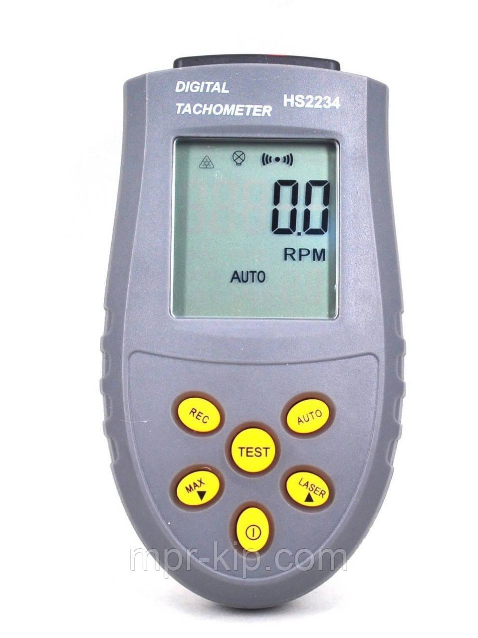 Лазерный бесконтактный тахометр Tasi HS2234 (SR2740) (от 2,5 до 99999 об/мин;50 - 500мм) память на 50 значений