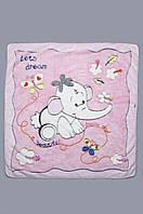 Детское махровое одеяло, плед 90х105 см. Розовое, фото 1