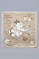 Детское махровое одеяло, плед 90х105 см. Бежевое, фото 1