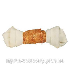 Жевательная косточка с узлами  для чистки зубов с куриным филе 1шт/70гр