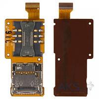 Шлейф для Samsung M3510 Beat B с коннектором SIM карты и карты памяти Original