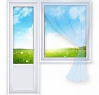 Балконный блок Grintech дверь 700*2100 и окно 1300*1400 глухое
