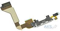 Шлейф для Apple iPhone 4 с разъемом зарядки и микрофоном Original White