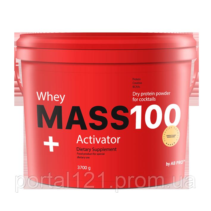 Гейнер  MASS 100+ Whey Activator 3700 г  AB PRO ™