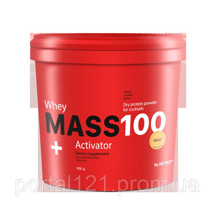 Гейнер 900г MASS 100+ Whey Activator AB PRO ™