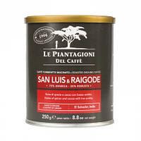 Кофе молотый Le Piantagioni del Caffe San Luis & Raigode 250 г в банке