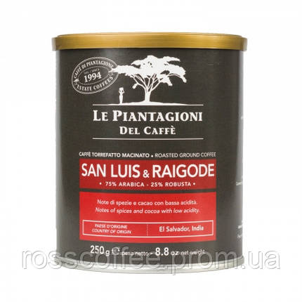 Кофе молотый Le Piantagioni del Caffe San Luis & Raigode 250 г в банке, фото 2