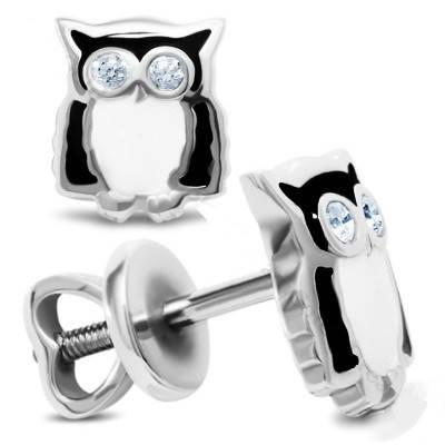 Срібні сережки Сови