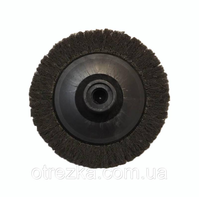Круг лепестковый скотч-брайт P600   для УШМ 125 мм. М14х2 серый Smirdex