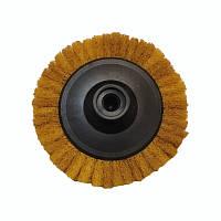 Круг лепестковый скотч-брайт P1000   для УШМ 125 мм. М14х2 желтый Smirdex
