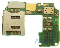 Шлейф для Nokia N86 с разъемом SIM-карты и карты памяти Original