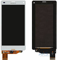 Дисплей (экраны) для телефона Sony Xperia Z3 Compact D5803, Xperia Z3 Compact D5833 + Touchscreen with frame Original White