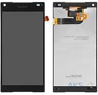 Дисплей (экран) для телефона Sony Xperia Z5 Compact E5803, Xperia Z5 Compact E5823 + Touchscreen Original Black
