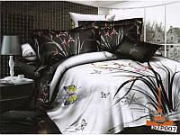 Полуторный комплект постельного белья. 3D Сатин Love You, День и Ночь