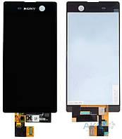 Дисплей (экран) для телефона Sony Xperia M5 E5603, E5606, E5633, E5653, E5663  Dual + Touchscreen Original Black