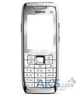 Корпус Nokia E51 с клавиатурой Silver