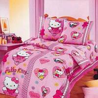 Комплект детского постельного белья HELLO KITTY в детскую кроватку бязь