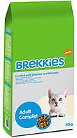 Сухой корм для кошек Брекис Brekkies Complit 20кг