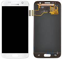 Дисплей (экран) для телефона Samsung Galaxy S7 G930F + Touchscreen Original White