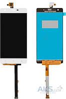 Дисплей (экран) для телефона Nomi i506 Shine + Touchscreen Original White